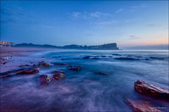 Deep Blue Sea (JustAddVignette) Tags: australia avalonbeach bluehour clouds cloudy early firstlight fog landscapes mist newsouthwales northernbeaches ocean rocks seascape seawater sky sydney water
