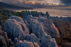 The Pancake Rocks in Punakaiki, New Zealand (Jos Buurmans) Tags: buller cliff cliffs coastallandscape coastline evening landscape limestone nature newzealand pancakerocks punakaiki rockformations rocks sea seascape southisland sunset tasmansea westcoast nz
