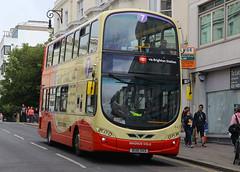 BG61 SXS, North Street, Brighton, August 6th 2015 (Southsea_Matt) Tags: bg61sxs 441 wright eclipse gemini volvo b5lh brightonhove goahead northstreet brighton sussex canon 60d 1850mm august 2015 summer bus omnibus vehicle transport magnusvolk