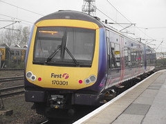 170301 (Rob390029) Tags: first transpennine express class 170 170301 doncaster railway station don