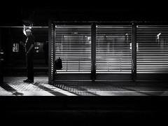 waiting (Sandy...J) Tags: street streetphotography sw schwarzweis strasenfotografie stadt blackwhite bw light licht lines linien monochrom man mono urban noir olympus city contrast atmosphere alone germany