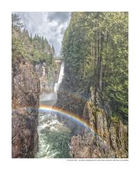 Double Rainbow at Capilano Canyon (Anka on Flickr) Tags: portfolio fotosquares britishcolumbiacanada capilanocanyon colors favorites landscape nature prints water fortune gallery hope rainbow rocks westvancouver britishcolumbia canada