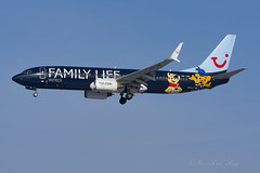 JAF_B73H_OOJAF_FamilyLife_BRU_JAN2019 (Yannick VP) Tags: civil commercial passenger pax transport airplane aeroplane jetliner airliner jaf jetairfly tui tuiairlinesbelgium oojaf boeing b737 737 737800 b73h wgl winglets familylifehotels special colors colours livery paint brussels airport bru ebbr belgium be eu europe february 2019 aviation photography planespotting airplanespotting approach landing finals runway rwy 25r