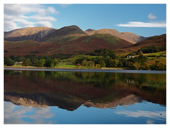 "Buttermere in the Lake District (Say ""Wasabi"") Tags: lakedistrict buttermere cumbria landscape scenery water autumn fall bracken reflections lake sky clouds olympus m43"