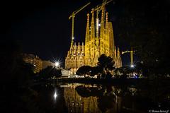 Barcelone-179 (bonacherajf) Tags: barcelona barcelone catalogne catalunya espagne espania spagna sagradafamilia cathédrale bynight nocturne poselongue longexposure