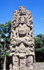 Copan stela (Niall Corbet) Tags: honduras copan maya mayan archaeology ruins stela