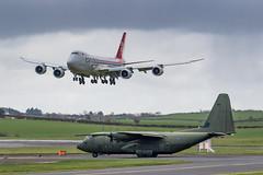 ZH888 Hercules C5 RAF and LX-VCB B747-8R7F Cargolux Prestwick 04.03.19 (Robert Banks 1) Tags: zh888 lockheed martin c130j c30j hercules c5 raf royal air force lxvcb boeing b747 b748 8r7f cargolux clx prestwick egpk pik