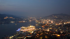 Nagasaki night view (Teruhide Tomori) Tags: city port landscape night light 夜景 nagasaki japan japon ship boat building sea harbor bay kyusyu costaserena nabekanmuri 長崎 鍋冠山 港 市街 日本 九州 展望 クルーズ 長崎港 コスタセレーナ