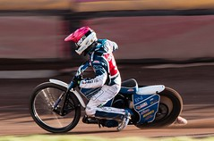 Speed pan (kimbenson45) Tags: leicester lewiskerr action bike black blue colorful colors colourful colours competition competitor helmet motion motorbike motorcycle motorsport movement outdoors pan panning pink race racing red rider speedway sport track white