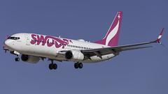C-FPLS_LAS_Landing_26L (MAB757200) Tags: swoop b7378ct cfpls aircraft airplane airlines airport jetliner landing las klas boeing runway26l mccarran