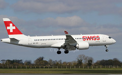 HB-JCS (Ken Meegan) Tags: hbjcs airbusa220300 55045 swiss dublin 1042019 airbusa220 airbus a220300 a220 cs300
