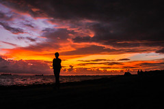 Untitled (Galib Emon) Tags: man alone dusk sunset street silhouette sky sea clouds dark canon flickr explore chittagong bangladesh colors cloudysky gloomysky glorysky canoneos7d galibemon outdoor travel image photograph life beautiful landscape lifescape people art fineartphotography