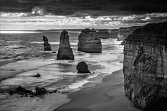 P2252147-Edit Gables to 12 Apostles-2 (Dave Curtis) Tags: victoria greatoceanroad 12 apostles blackandwhite 2014 australia em5 greatoceanwalk omd olympus places september