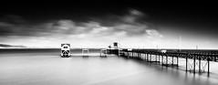 Mumbles Pier (Solent Poster) Tags: mumbles pier south wales pentax 2470mm k1 monochrome mono bw seascape