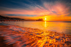 Malibu Pier Beach Sunset Red & Orange Clouds Fine Art Surfriders Beach California Landscape Seascape Photography! Sony A7R III & Sony FE 16-35mm f/2.8 GM G Master Lens! High Res 4k 8K Photography! Elliot McGucken Fine Art Pacific Ocean Sunset! A7RIII A7R3 (45SURF Hero's Odyssey Mythology Landscapes & Godde) Tags: malibu beach sunset red orange clouds fine art el matador state california landscape seascape photography sony a7r iii fe 1635mm f28 gm g master lens high res 4k 8k elliot mcgucken pacific ocean