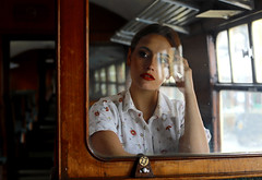 'Emily M' (AndrewPaul_@Oxford) Tags: emily emilym great central railway loughborough station british railways vintage 1950s carriage environmental portrait window