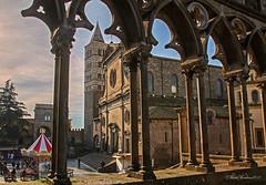 Loggia del Palazzo dei Papi (Michele Monteleone) Tags: viterbo tuscia arte architettura loggia arco campanile michelemonteleone canon 5dmarkiii chiesa basilica duomo
