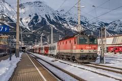 1144 032-0 ÖBB Innsbruck Hbf 01.02.19 (Paul David Smith (Widnes Road)) Tags: 11440320 öbb innsbruck hbf 010219 1144 snow