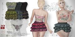 Detail-Poster-Heather-Ruffled-Dress-&-Roses-Panty (Gabrielle Hamelin) Tags: slinkhourglass slinkphysique bellezafreya bellezaisis bellezavenus maitreya fatpack colourstinting secondlife avatar spring glamourhud roses