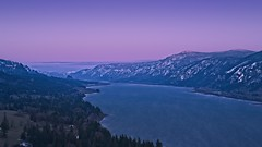 Columbia River at Cape Horn 3055 A (jim.choate59) Tags: on1pics jchoate columbiariver capehorn washington landscape bluehour magichour river winter cold snow columbiarivergorge