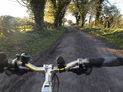 Evening Cycling (cycle.nut66) Tags: cycling ride riding bike bicycle evening light trees lane chilterns chiltern hills hedge movenemy moving olympus epl1 evolt micro four thirds