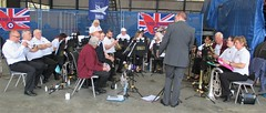 The Rayleigh Brass Band at VRT HQ, Southend Airport 17.06.18 (Trevor Bruford) Tags: vrt vulcan restoration trust xl426 southend airport avro nuclear bomber cold war plane jet aircraft airplane aviation raf tin triangle delta lady royal air force rayleigh brass band