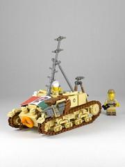 Carro Comando Semoventi M41 (Rebla) Tags: carro comando semoventi m41 lego ww2 wwii world war ii 2 rebla italy italian m1441 tank armor desert north africa campaign axis ladder
