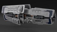 Yutu Class Sensor Cruiser (noblebun) Tags: lego spaceship spacecraft microscale homeworld render blender