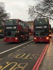 What happens when a once great route gets butchered and therefore, less popular and less reliable. | Tower Transit London E400s operating the revised 23. (alexpeak24) Tags: