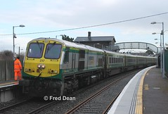 Irish Rail 217 in Banteer. (Fred Dean Jnr) Tags: irishrail iarnrodeireann january2015 caf mkiv markiv 217 gm217 electromotivedivision generalmotors locomotive cork banteerstationcork banteer