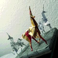 Origami Unicorn Trios II (hinxlinx) Tags: origami paperart paperanimal papercreatures papercreature origamicreature papercrafts origamiart origamianimal origamiunicorn unicorn paperunicorn bladerunnerorigamiunicorn bladerunnerorigami gaffunicorn fantasycreature hinxlinx ericlynxlin elynx atlantix軒 picofinstagram