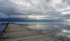 AshoraDeh (Poria) Tags: nature view landscape iran persia sea sky cloud reflection wharf