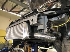 Front mount intercooler and piping (andrew edgar .......) Tags: subaru impreza wrx silver turbo awd car sydney blacktown