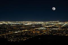 Moon Over City Lights (vincentinfante) Tags: moon night city lights arizona sonoran desert phoenix
