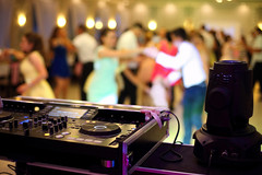 Dancing couples during party or wedding celebration (DJ Climactic) Tags: wedding dj mixer party background celebration music dancing reception event happy white women marriage groom blur beauty people band male love happiness dinner romantic dress couple ceremony wife lights nightclub dance young decoration text copy design surface poland