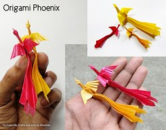 Traditional origami Phoenix (My Crafts and Arts) Tags: traditionalorigamiphoenix origamiphoenix origamibird