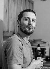 Gis-a-kiss (daveseargeant) Tags: beer kiss beard portrait monochrome black white medway rochester nikon df 50mm 18g