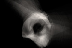 eye of the chicken (scoliosis (master of curves)) Tags: intentionalcameramovement blur abstract nikon blackandwhite buttholesurfers