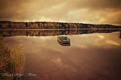 Padrťský pond (Michal Ritter) Tags: czech colors czechrepublic landscape national pond bohemia brdy yellow forest country water autumn area nikon nature reflections