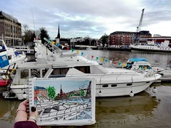 I have always wanted a boat. (aniuswalker) Tags: boat bristol harbourside harboursidebristol bristolart bristolian watercolor urbansketch urbansketchers urbansketching sketch painting drawing watercolorsketch