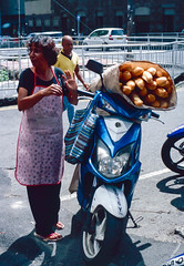 Ready for Delivery (Vincent Jolicoeur) Tags: ektachrome slide positive olympus om2n film analog e6 e100 mauritius portlouis street bread delivery