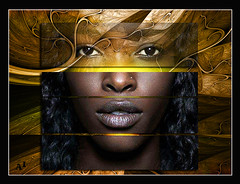 look 02 (andrzejslupsk) Tags: woman portrait andrzej słupsk slupsk face art photo manipulation look eyes brown