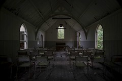 'Tin Tabernacle'.... (Taken By Me Photography) Tags: abandoned adventure building closed creepy centre church chair chairs derelict decay dark demolished d750 explore exploring empty eerie forgotten floor gone historic left nikon neglect north news open old pray prayers practice ruin religion religious shut school takenbyme takenbymephotography table piano urbex urban ue uk wall wwwtakenbymephotographycouk window walls wales