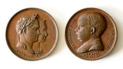 1811 Birth of Napoleon II Medal (Mustang Joe) Tags: nikon public domain d750 medal bronze napoleon child king rome birth