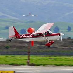 2006 American Champion 7GCAA Citabria N349SA c/n 508-2006 at Livermore Airport California 3-19. (planepics43) Tags: citabria 7gcaa livermoreairport airport lvk piper americanchampion cessna aerobatics pilot planes planespotting plane landing taxi takeoff 17crossfeed claytoneddy california aviation aircraft airplane airshow p51 pitts p40