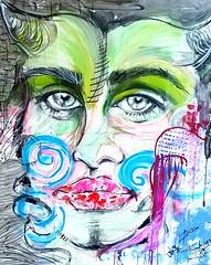 femme fatale (franck.sastre) Tags: femme mujer painting art fusion colors picture miradas espejo retrato
