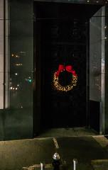 Red and Gold (Jocey K) Tags: sonydscrx100m6 triptocanadaandnewyork architecture building door christmasdecorations evening nighttourhopandhopoffbus newyorkcity