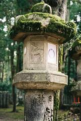 Stone Lantern Moss (GingerKimchi) Tags: nara osaka japan travel nature asia film 35mm fujifilm canon deer canona1 2019 spring february march