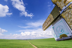 public bridleway (Paul Wrights Reserved) Tags: bridleway path lines leadinglines leading sky clouds skyscape skyscapes country countryside bluesky field fields colour colours colourful color coloured