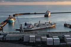 Dover Harbour (BeerAndLoathing) Tags: 2018 december englandtrip england sunset uktrip whitecliffs canon kent sea 77d ships trip winter harbour winter2018 uk dover englishchannel canoneos77d sigma18300mm